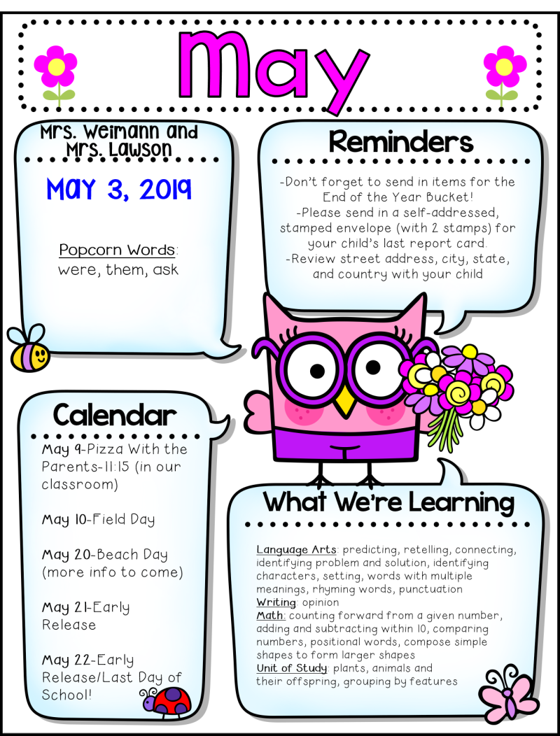 Weekly Update - Mrs  Weimann's Wise Words